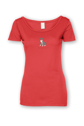Ladies Sheer Scoop Neck T-Shirt - Schnauzers Rule! - Dogs Rule!