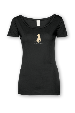 Ladies Sheer Scoop Neck T-Shirt - Labradors Rule! - Dogs Rule!