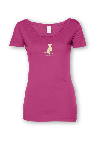 Ladies Sheer Scoop Neck T-Shirt - Labradors Rule!