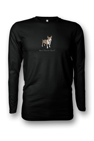 Mens Long Sleeve T-Shirt - Bull Terriers Rule! - Dogs Rule!