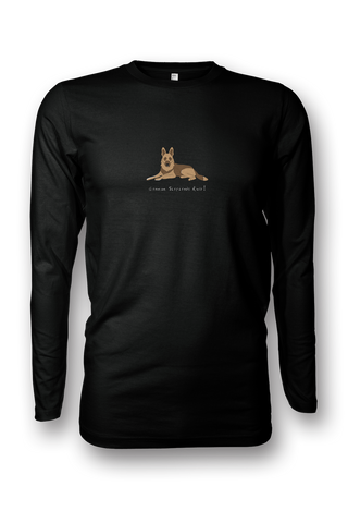 Mens Long Sleeve T-Shirt - German Shepherds Rule! - Dogs Rule!