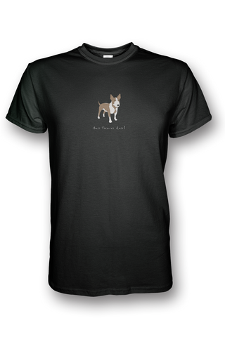 Mens Crew Neck T-Shirt - Bull Terriers Rule! - Dogs Rule!