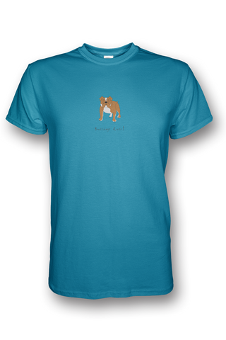 Mens Crew Neck T-Shirt - Bulldogs Rule! - Dogs Rule!