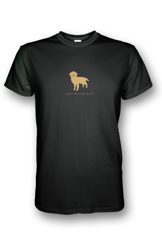 Mens Crew Neck T-Shirt - Golden Retrievers Rule! - Dogs Rule!