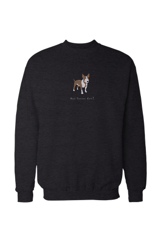 Mens Drop Shoulder Sweatshirt - Bull Terriers Rule! - Dogs Rule!