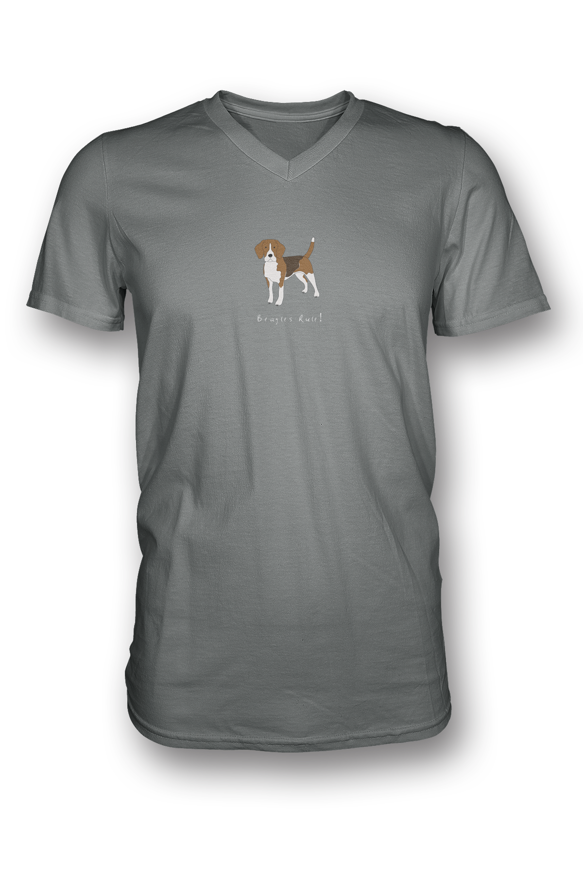 Mens V Neck T-Shirt - Beagles Rule!
