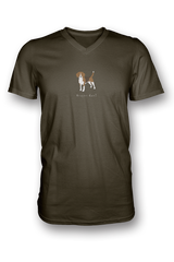 Mens V Neck T-Shirt - Beagles Rule! - Dogs Rule!