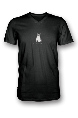 Mens V Neck T-Shirt - French Bulldogs Rule! - Dogs Rule!