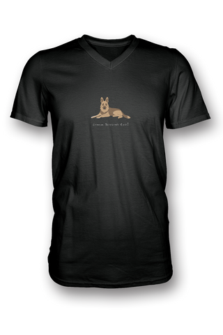 Mens V Neck T-Shirt - German Shepherds Rule! - Dogs Rule!