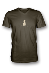 Mens V Neck T-Shirt - Labradors Rule! - Dogs Rule!