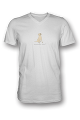 Mens V Neck T-Shirt - Labradors Rule!