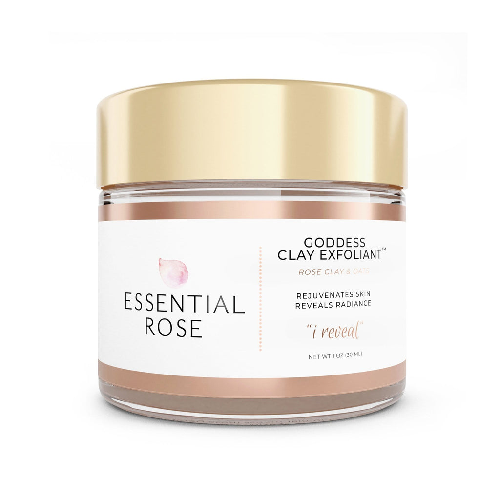 Face Mask Exfoliant - Goddess Clay - Essential Rose Life