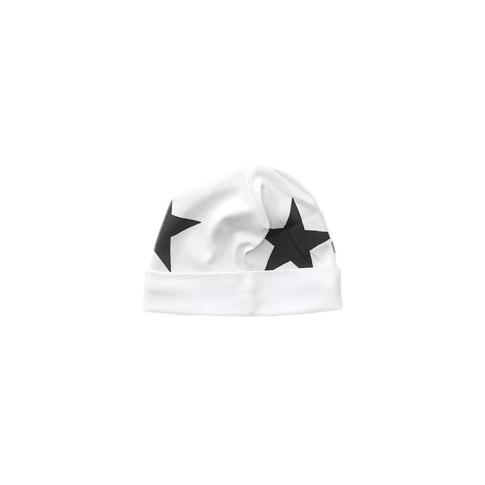 Black Bold Star Receiving Hat