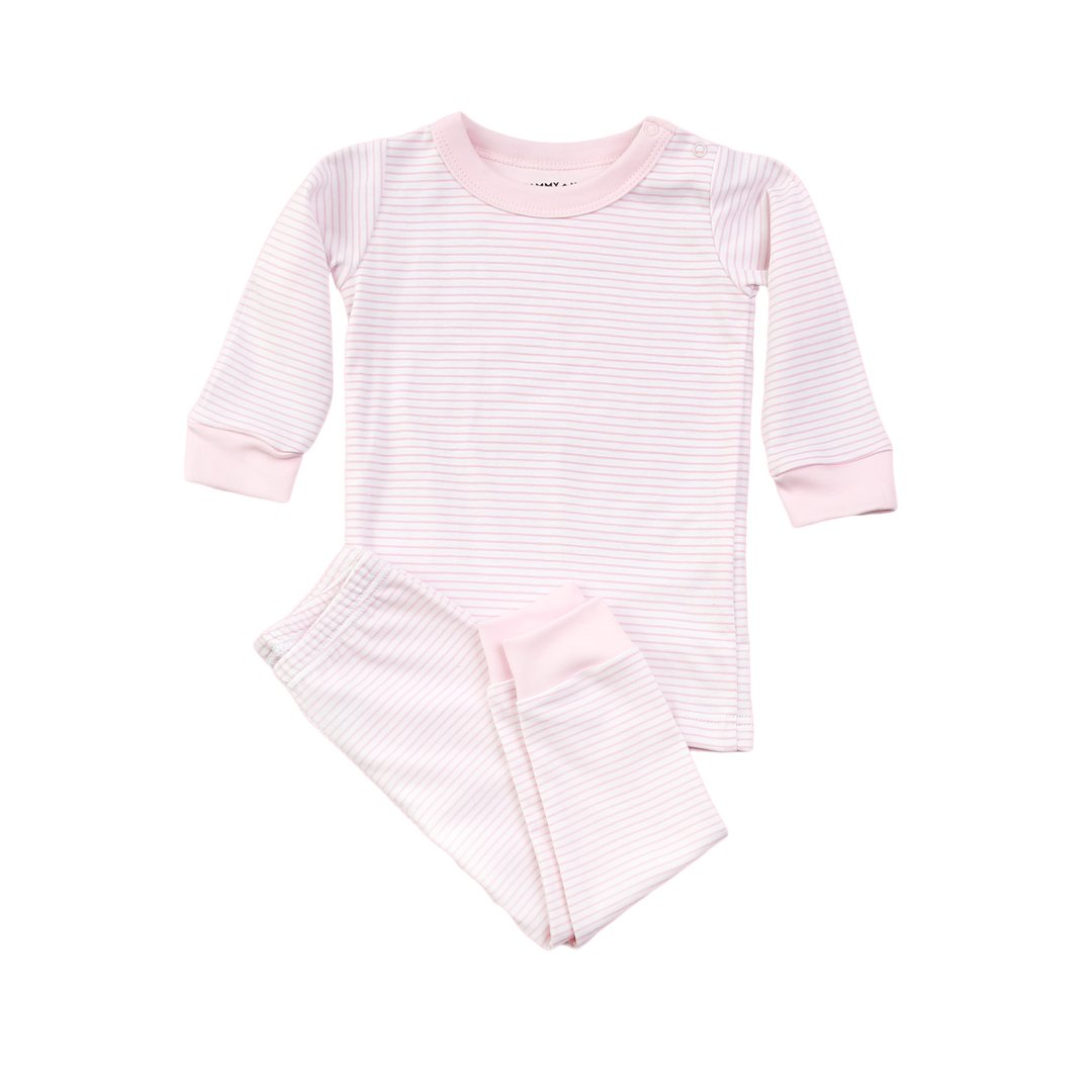 Pink Stripe Pajama Set