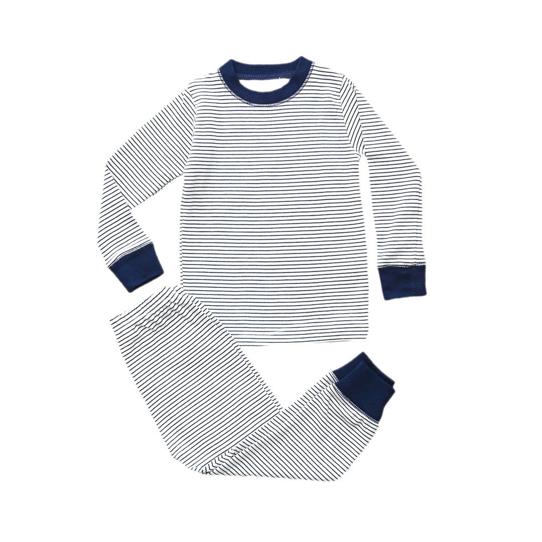 Navy Stripe Pajama Set