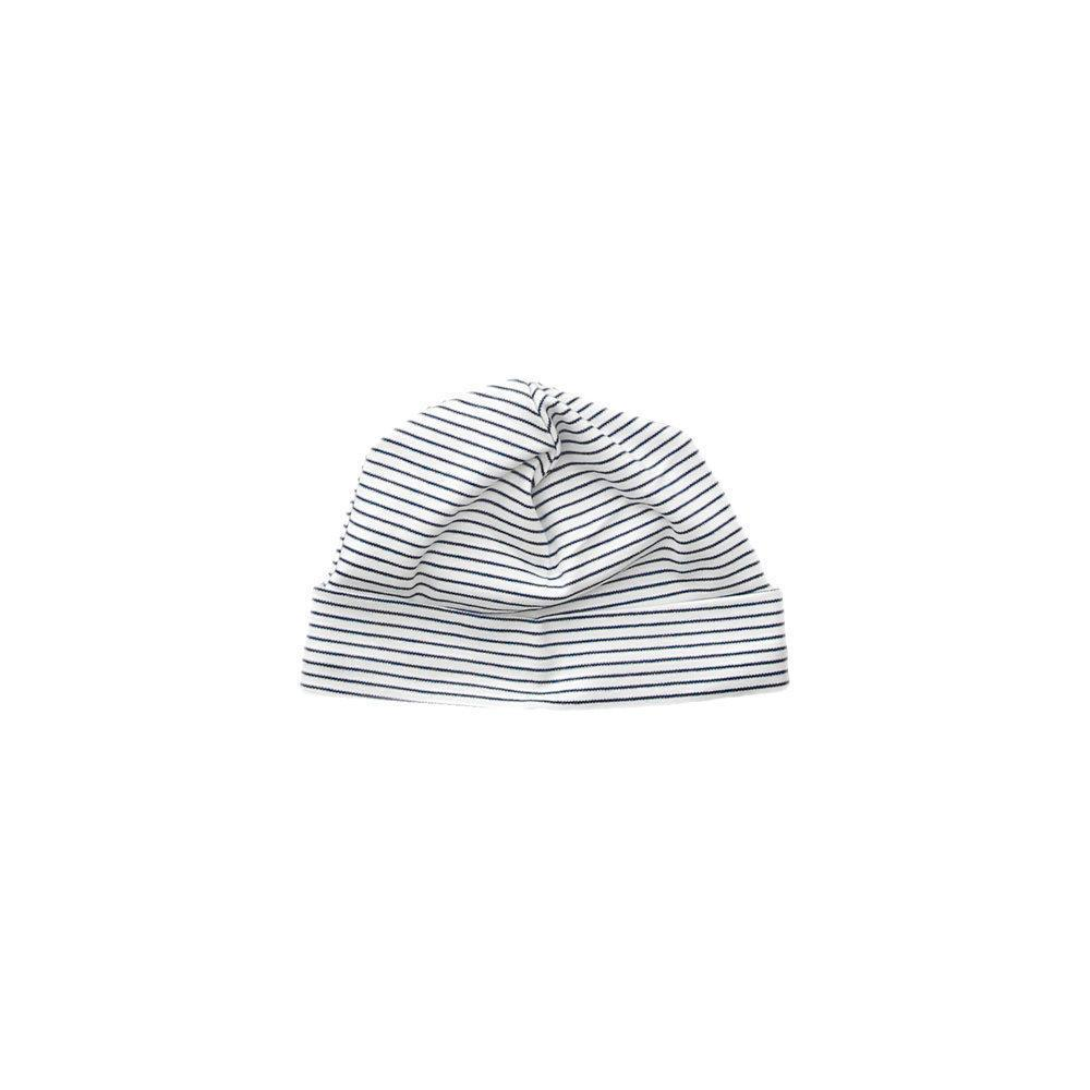 Navy Stripe Receiving Hat