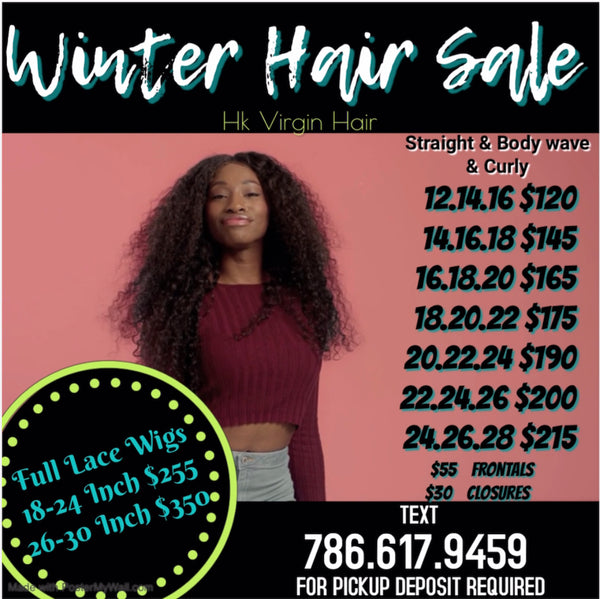 Winter Hair Sale