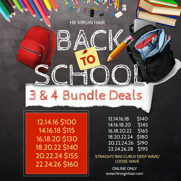 BACK TO SCHOOL 3 & 4 BUNDLE DEALS