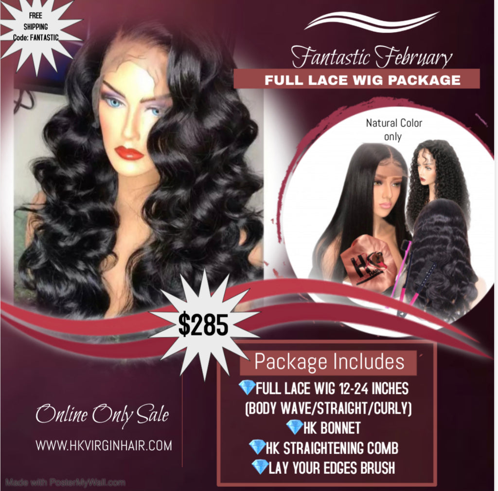 FANTASTIC FEBRUARY LACE WIG SALE