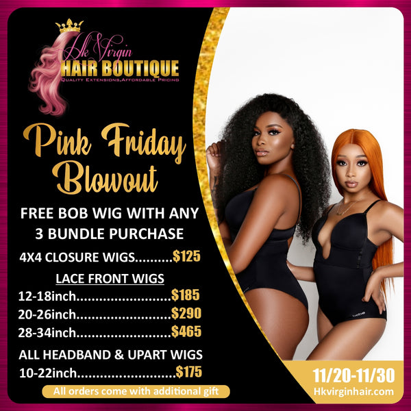 PINK FRIDAY FREE BOB WIG SALE!
