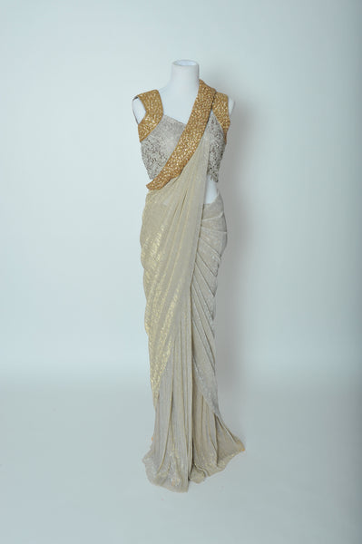 Stitched Sliver Saree