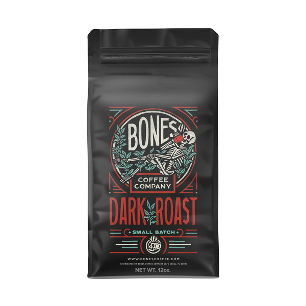 Dark Roast Coffee - Gourmet Coffee by Bones Coffee Company | 12oz