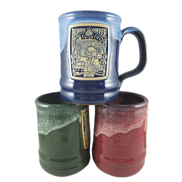 Limited Edition Hand Thrown Holiday Mugs from Deneen Pottery