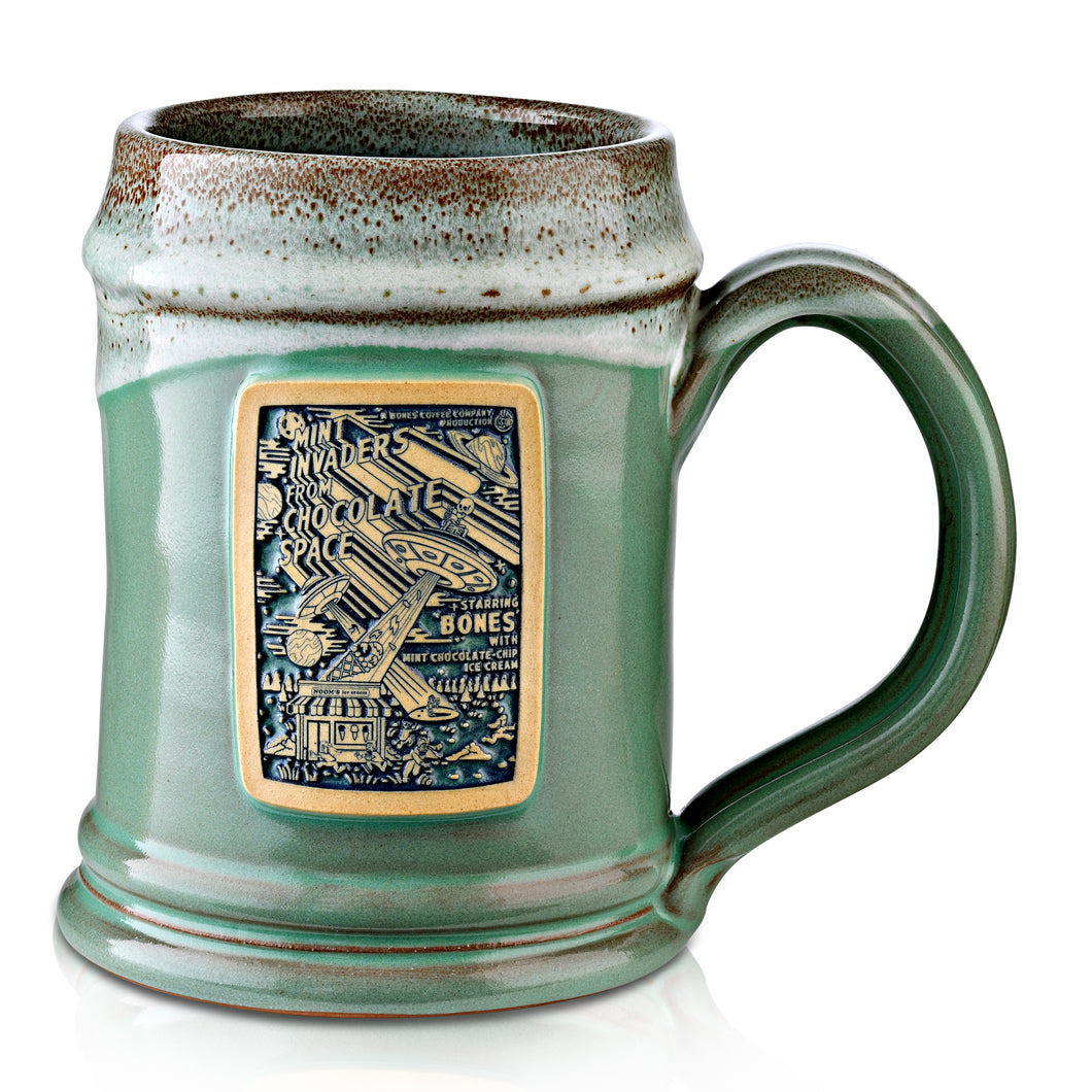 Mint Invaders Handthrown Mug