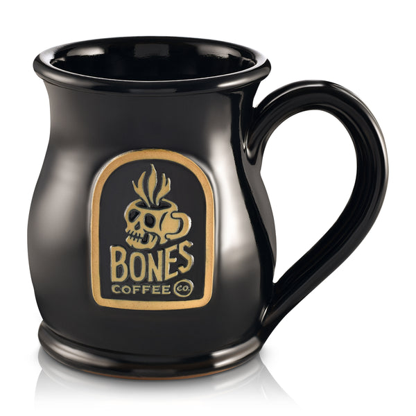 Skull Logo Handthrown Mug from Bones Coffee Company