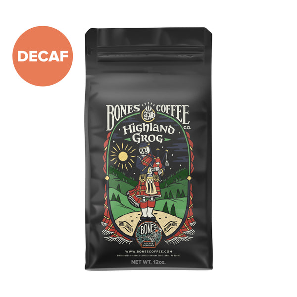 Decaf Highland Grog - Butterscotch & Caramel by Bones Coffee Company | 12oz