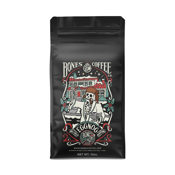 Eggnog Flavored Coffee by Bones Coffee Company | 12oz