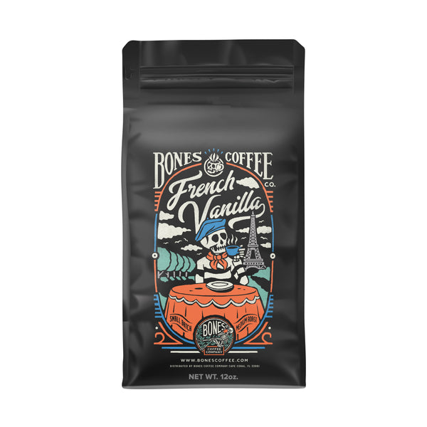 French Vanilla Craft Coffee by Bones Coffee Company | 12oz