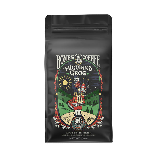 Highland Grog - Butterscotch & Caramel by Bones Coffee Company | 12oz
