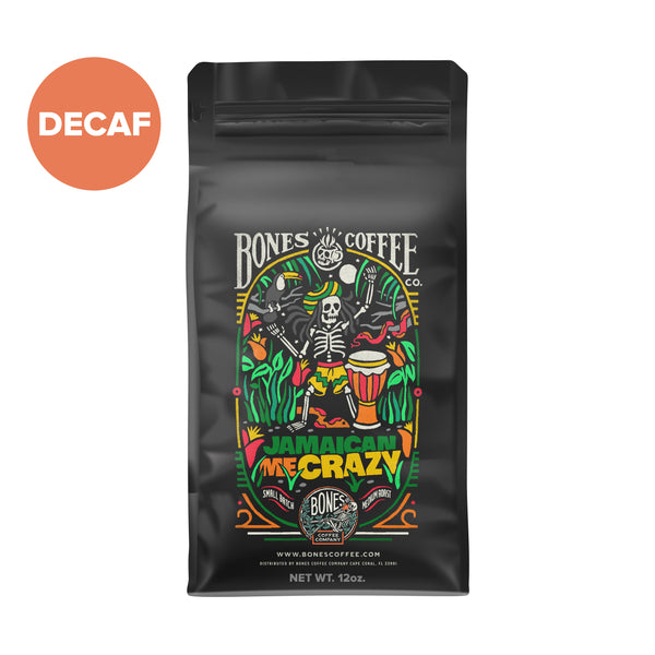 Decaf Jamaican Me Crazy - Vanilla Caramel & Coffee Liqueur Flavor by Bones Coffee Company | 12oz