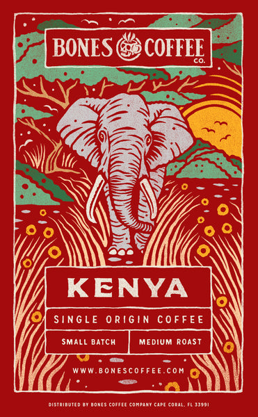 Kenya Single-Origin Coffee - Craft Coffee by Bones Coffee Company | 12oz