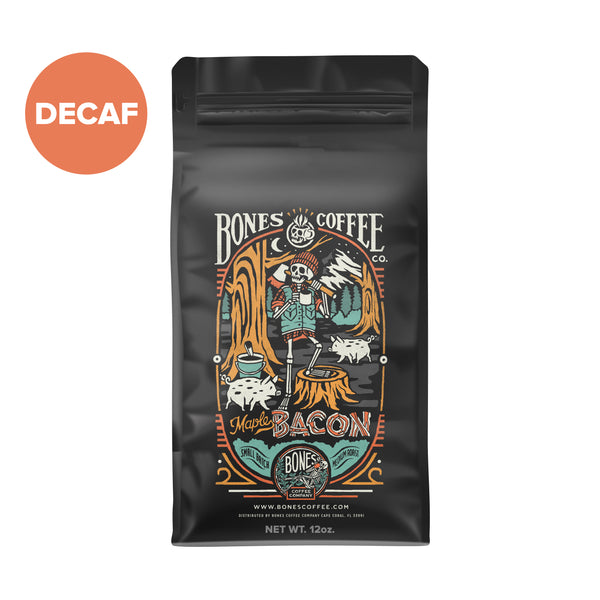 Decaf Maple Bacon Coffee - Bacon Flavored Coffee by Bones Coffee | 12oz
