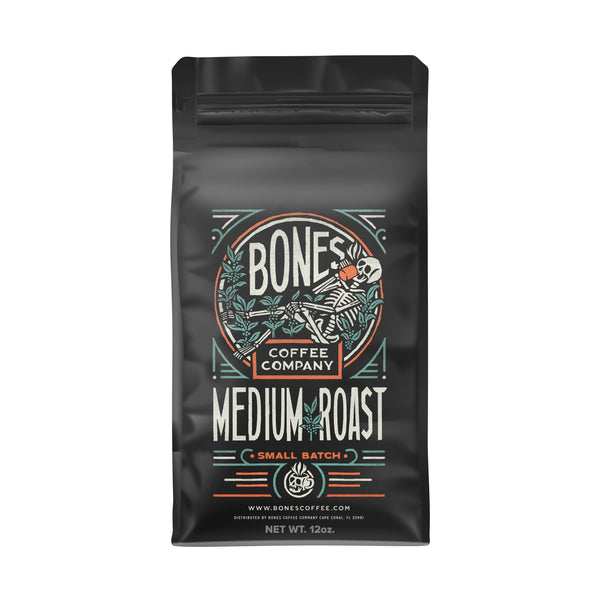 Medium Roast - Gourmet Craft Coffee by Bones Coffee Company | 12oz