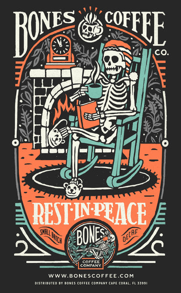 """Rest-In-Peace"" Decaf Coffee by Bones Coffee Company 