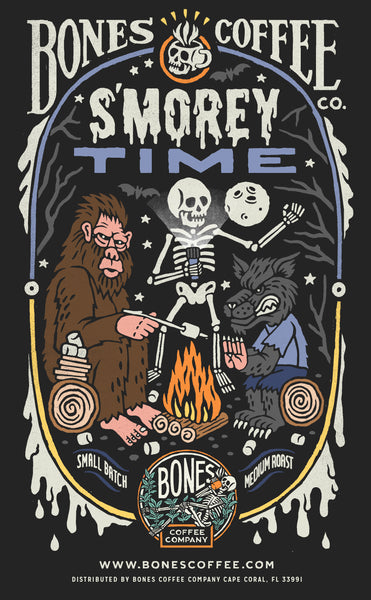 Decaf S'morey Time - S'mores Flavored Coffee by Bones Coffee Company | 12oz
