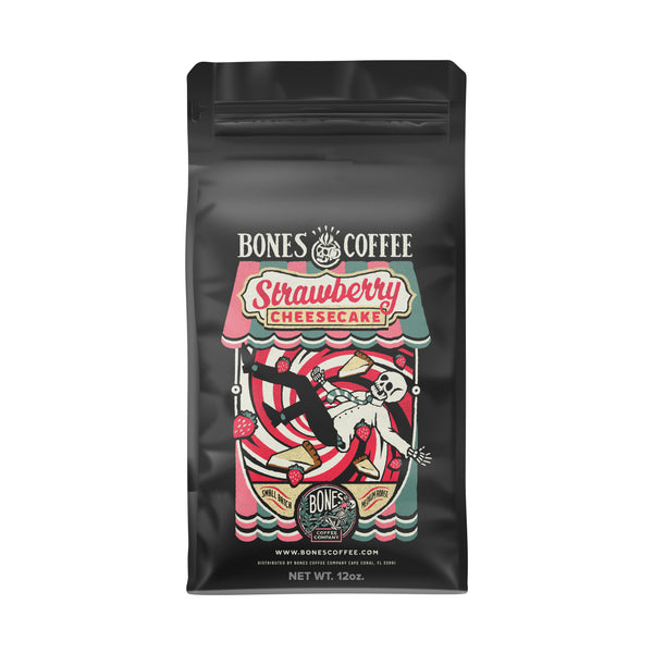 Strawberry Cheesecake Gourmet Coffee by Bones Coffee Company | 12oz