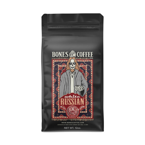 White Russian Flavored Coffee by Bones Coffee Company | 12oz