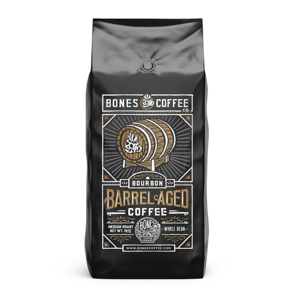 Bourbon Barrel Aged Coffee by Bones Coffee Company - 10oz