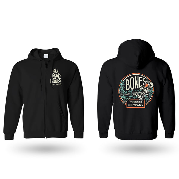 Bones Coffee Company Zip-Up Hoodie