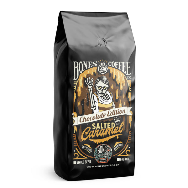 Chocolate Edition Salted Caramel by Bones Coffee Company - 16oz