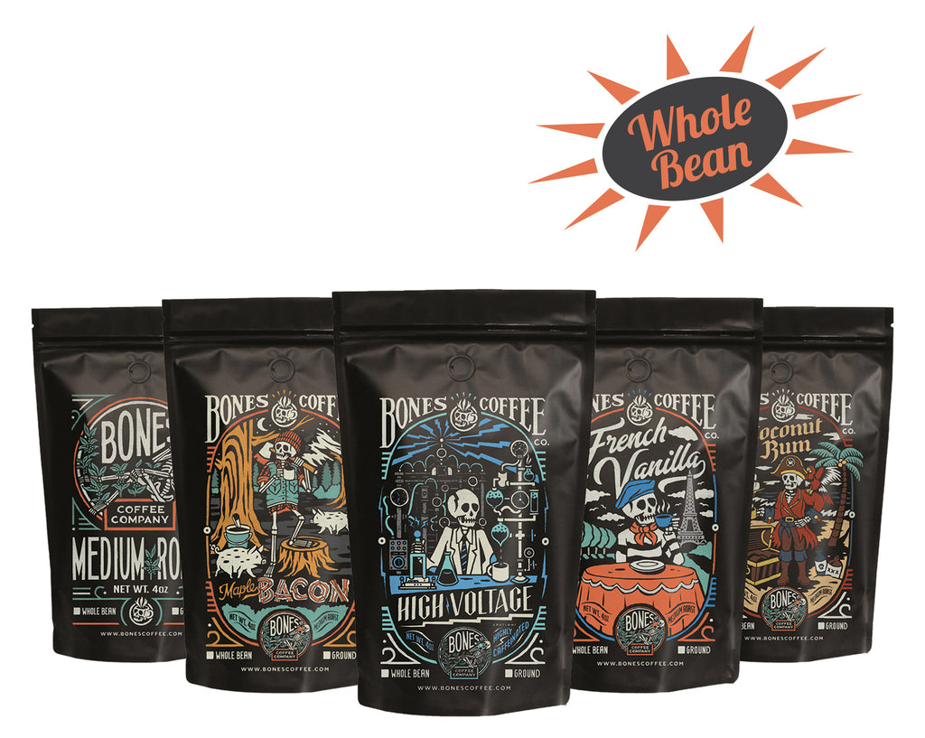 Bones Coffee 5 Bag Sample Pack (Whole Bean)