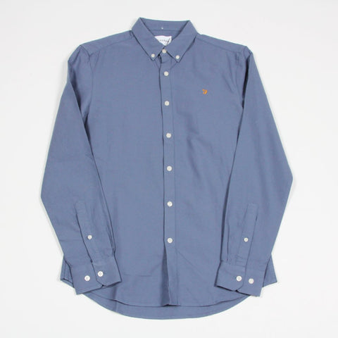 Farah Brewer Longsleeve Shirt Blue
