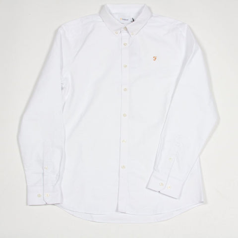 Farah Brewer Longsleeve Shirt White