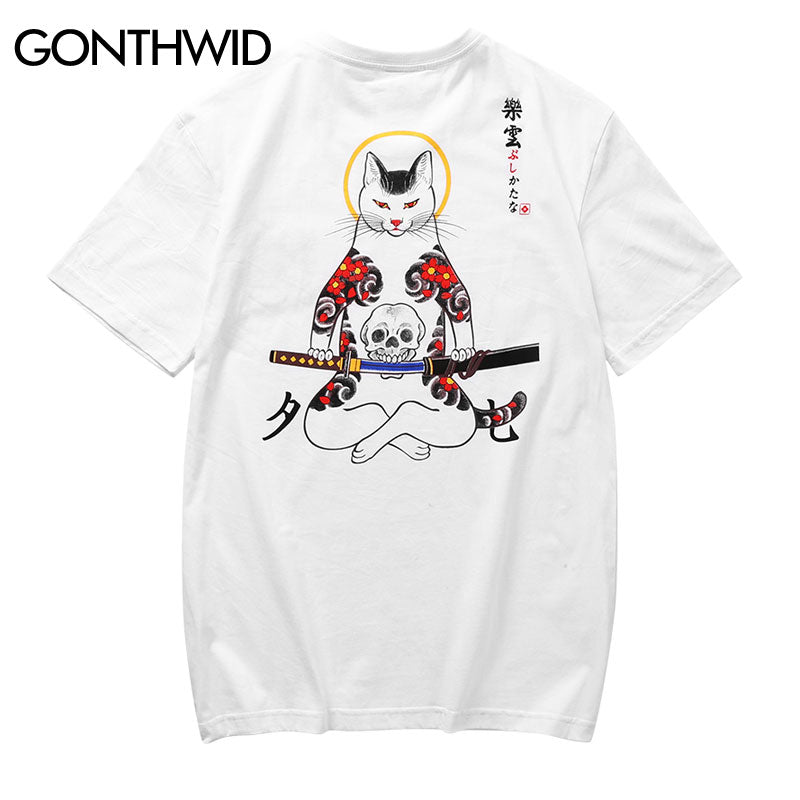 ba9c8cc0c GONTHWID Japanese Fox Mask Warrior Cats T-Shirt - Dapper-Wear ...