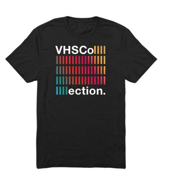 VHS Collection T-Shirt Black with Colored Font