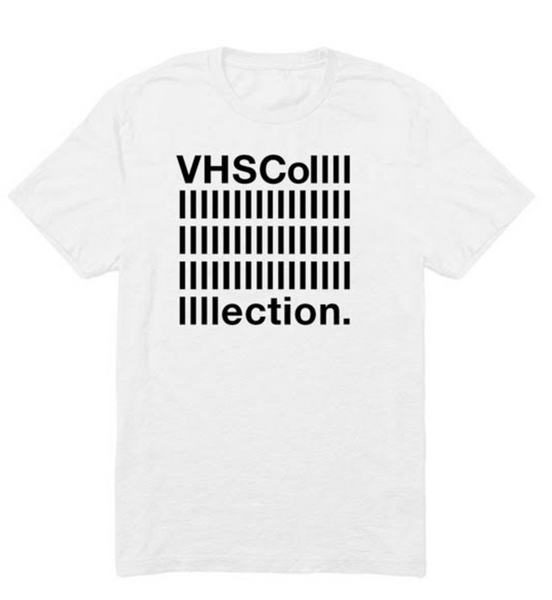 VHS Collection White T Shirt Black Logo
